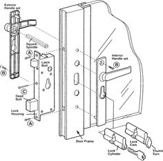 How To Install The   Lever And Latch Bolt Of SWISCO Product Code Security  Storm Door Lock Assembly