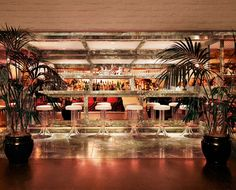 Indoor bar at the Parker Palm Springs.