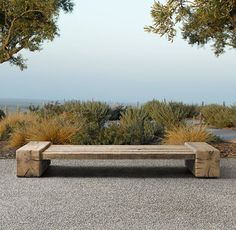 simple, innovative wooden garden bench (from The Gifts of Life on tumblr)