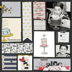 Great designs by Valorie Wibbens: Eat Cake - papers, elements and Journal cards, Topography No. 24, Journal Strippers and Sass Mouth Alphas.
