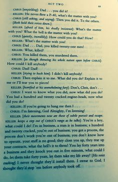 Page of the play All My Sons by Arthur Miller. (The play that the name of the band Twenty One Pilots is based off of)