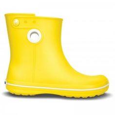 Crocs Jaunt Shorty Women, Gummistiefel, Regenstiefel, Stiefel, gelb, gelbe stiefel, gelbe schuhe