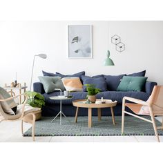 Le Grand Air 3-sits soffa, blå i gruppen Möbler / Soffor / 3-sits hos RUM21.se (LeGrandAir1)