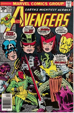 Avengers 154 December 1976 Issue  Marvel Comics  by ViewObscura
