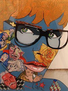 Bartley and Company Art - Sam MitchellSam MitchellSam Mitchell Middle School Art, Art School, Sam Mitchell, Chuck Close, Arts Ed, Figurative, Painters, Printmaking, Spiderman