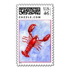 HUH.   Lobster Postage Stamp
