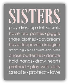 Hey, I found this really awesome Etsy listing at https://www.etsy.com/ca/listing/184191512/sisters-print-baby-girl-print-twin-art