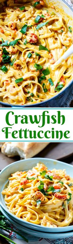 Creamy and cheesy Crawfish Fettuccine- perfect for Mardi Gras!