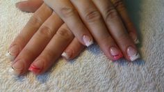 French and pink gel nails