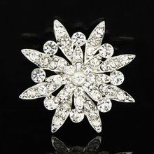 (6pcs/Lot)Cheap Wholesale AB Rhinestone Brooches Jewelry Fashionable Simple Luxury Star Vintage Brooch Pins For Women(China (Mainland))
