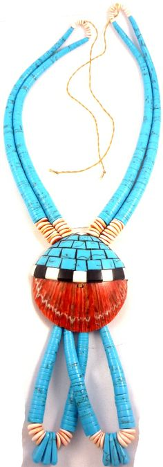 santo domingo pueblo | Santo Domingo Pueblo traditional Ceremonial Turquoise and Spiny Oyster ...