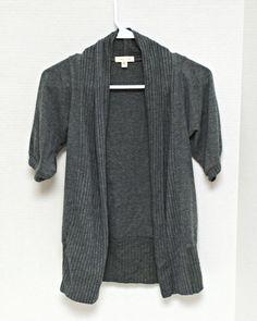 J Jill Women's Cardigan Shrug Sweater Size XS Petite 3/4 Sleeve ...