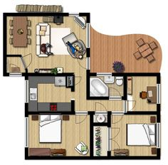 planimetria appartamento | Floor Planner software per disegnare piantina di una casa