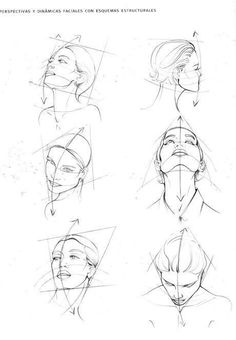 Head Angles and Positions ReferenceDreams of Gold :: Drawing of Figurines of the Human Body =) Dreams of Gold :: Drawing of Figurines of the Human Body =)Sketching a face from different anglesHow to Draw a Face - 25 Step by Step Drawings and Video Tu Drawing Heads, Drawing Poses, Life Drawing, Drawing Tips, Figure Drawing, Drawing Sketches, Art Drawings, Sketching, Drawing Drawing