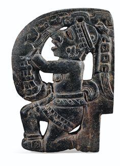 HACHA, HOMME AGENOUILLÉ CULTURE VERACRUZ CÔTE DU GOLFE, MEXIQUE CLASSIQUE, 600-900 AP. J.-C.