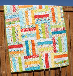 Bright Baby Boy Quilt Mixed Bag Quilt Primary by JennyMsQuilts