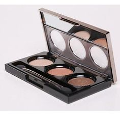 QINF Pro 12 Color Earth Eyeshadow Cosmetic Makeup Palette with Brush6 Styles 72Color -- Click image to review more details.