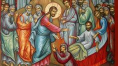Thursday of the Fourth Week in Lent Mass Propers: Station at the Church of Saints Sylvester and Martin. Our Lady of Bolougne S. Images Of Christ, Religious Images, Religious Icons, Religious Art, Church Icon, Miracles Of Jesus, Spirited Art, Catholic Art, Orthodox Icons
