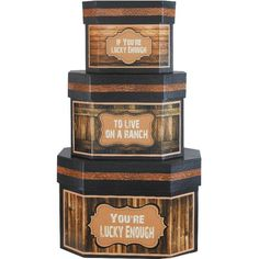 Fireside Home - FBW-104 Boxes - Hexagon Lg Western Ranch Boxes #home #decor #gift #nestedbox #western #westerndecor #homeaccent (http://www.firesidehome.ca/fbw-104-boxes-hexagon-lg-western-ranch-boxes/)