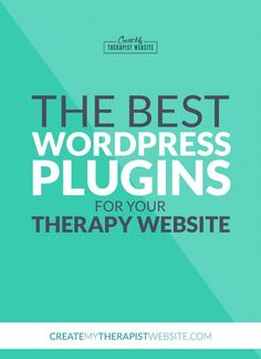 WordPress plugins are an amazing way to add new features, increase security and truly customize your private practice website. In this post, I'll share some of my favorite plugins and how they can improve your therapy website.