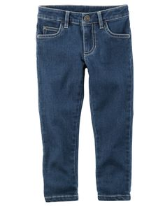 Baby Girl 5-Pocket Skinny Stretch Denim from Carters.com. Shop clothing & accessories from a trusted name in kids, toddlers, and baby clothes.