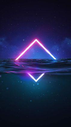 Neon In Water IPhone Wallpaper - IPhone Wallpapers