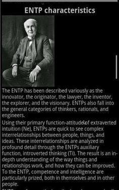 Yep. ENTP - the natural-born lawyer. this is a link to an app page. but I like the beginning of this quote.