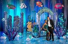 Underwater Event Theme decorations from Stumps prom supplier