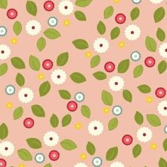 Fabric... Wallflowers Small Floral on Pink by Windham Fabrics