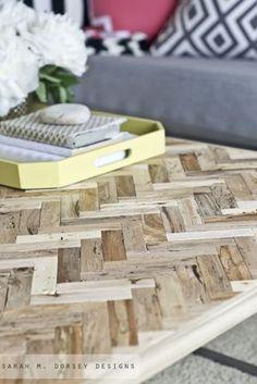 sarah m. dorsey designs: Herringbone Driftwood Table | DIY and not by this self.