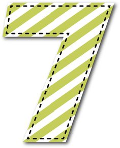 7 NÚMERO Arrow Words, Report Card Comments, Printable Numbers, Alphabet And Numbers, Kids Cards, Clipart, Projects To Try, Polka Dots, Printables