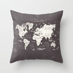 The World Map Throw Pillow                              …