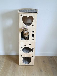 Rosewood Catwalk Collection Solid Wood Cat Sleeper Caves Supplies Products Car Travel Accessories Covers Shoes-Accessories Use Supplies Pet Furniture, Plywood Furniture, Sisal, Diy Dog Crate, Online Pet Store, Wood Cat, Dog Feeder, Cat Supplies, Pet Shop