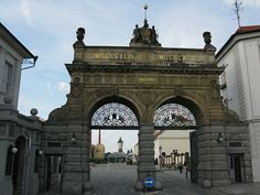 The gates of the brewery. Czech Beer, Czech Republic, Brewery, Gates, To Go, Louvre, Building, Travel, Green Papaya Salad