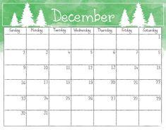 December 2018 Printable Calendar  #DecemberCalendar2018Academic