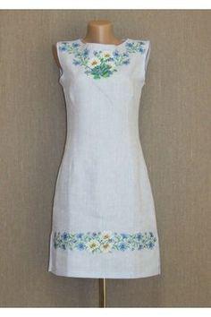ab105a233a67 Сукня «Ромашки» блакитного кольору – з орнаментом