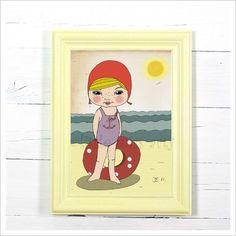 kinderbild - mädchenbild von *little miss arty*  - illustrationen auf DaWanda.com