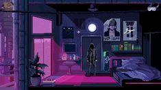 aesthetic cyberpunk apartment rooms futuristic gaming purple neon desktop vaporwave bit retro virtuaverse