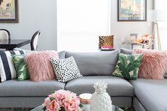 Blanco Interiores: Elogio ao sofá cinzento...