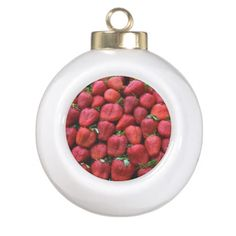 Strawberries  Christmas Ornament Ornament #christmas #christmasornaments #strawberryornament