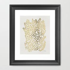 Gold Ivy Framed Art Print by Cat Coquillette | Society6