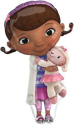 """Included in this bouquet: 11 Balloons Total 1 – 35"""" Doc McStuffins Shape Balloon 2 – 18"""" """"Happy Birthday"""" Doc McStuffins Round Balloons 2 – 18"""" Lavender Round Balloons 6 - 12"""" Mixed Latex Balloons (2"""