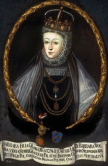 Barbara Radziwiłł (1520 - 1551). Queen of Poland from 1547 until 1551. She was the second wife of Sigismund II. She may have been poisoned by her husband's mother.