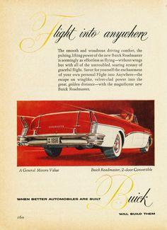 1956 Buick Roadmaster Convertible Ad (Canada)