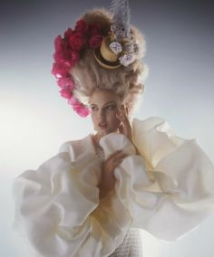 """""""Haute Style"""": Lindsey Wixson is Marie Antoinette in Haute Couture by Karl Lagerfeld for Harper's Bazaar US April 2014"""