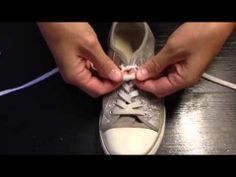 ▶ How To Tie Your Shoes SO EASY - YouTube - This is way better than that super-fast way in another video. I think my 4 yr old could even do this