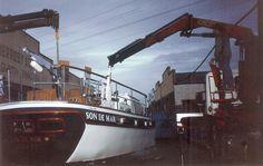 """Barco utilizado en la película """"Son de mar"""" dirigida por Bigas Luna, el barco es hundido en las aguas del Mar Menor de Murcia"""