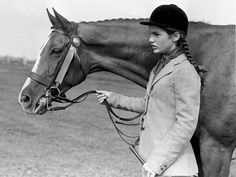 Jacqueline Bouvier (Kennedy) in her youth competing at the East Hampton Horse Show. @Hampton Classic Horse Show @Hampton Sprinkle Magazine
