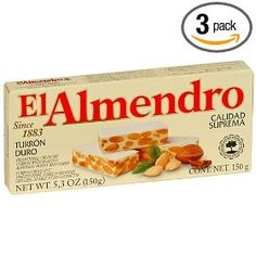 EL Almendro Turron Crunchy Almond, 5.3-Ounce Boxes (Pack of 3)