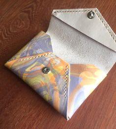 牛ヌメ革 マーブル&マーブル模様のカードケース
